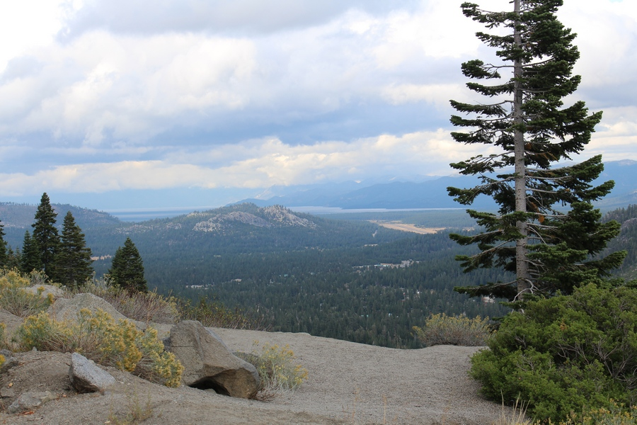Fra vejen til Lake Tahoe